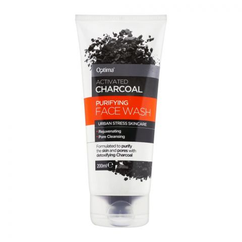 Optima Activated Charcoal Purifying Face Wash, 200ml