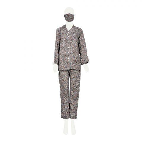 Basix Women's Loungewear, 4 Piece Set, Elegant Butterflies, 511