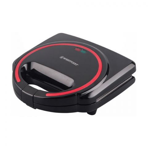 West Point Deluxe Sandwich Toaster, Black, WF-691