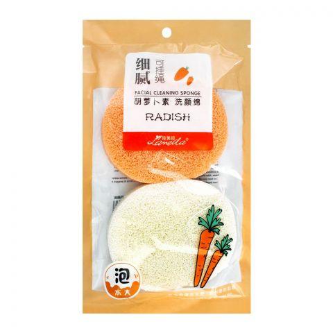 Lameila Radish Facial Cleansing Sponge, 2-Pack. B2139