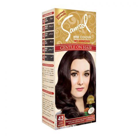 Samsol No Ammonia Hair Colour, 43 Dark Brown