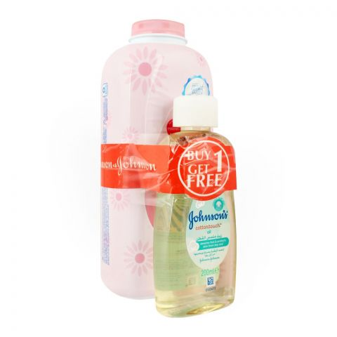 Johnson's Blossom Baby Powder 500g + FREE Cottontouch Baby Oil