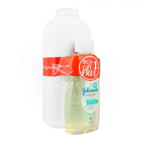 Johnson's Baby Powder 500g + FREE Cottontouch Baby Oil