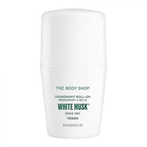 The Body Shop White Musk Vegan Deodorant Roll-on, For Women, 50ml