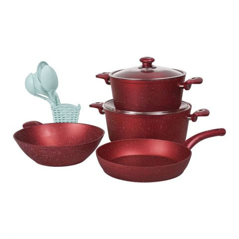 Des Chef Cooking Set, 13 Pieces, GL Red