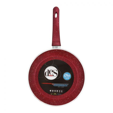 Des Chef Fry Pan, 24cm, Red
