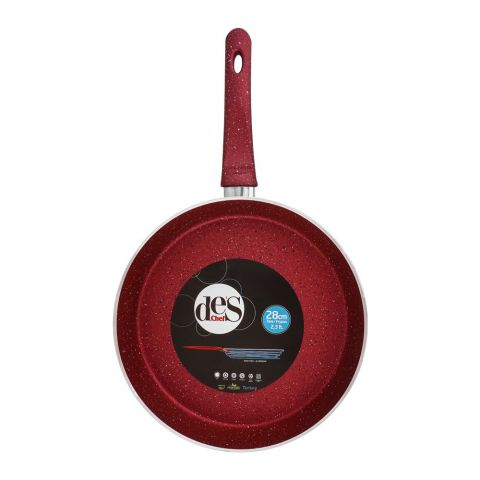 Des Chef Fry Pan, 28cm, Red