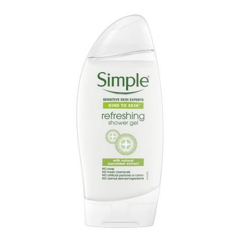 Simple Kind To Skin Natural Cucumber Extract Refreshing Shower Gel, 250ml