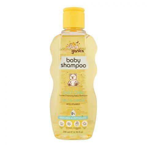 Baby Ganics Mild & Gentle Daily Care Baby Shampoo, Paraben Free, 200ml