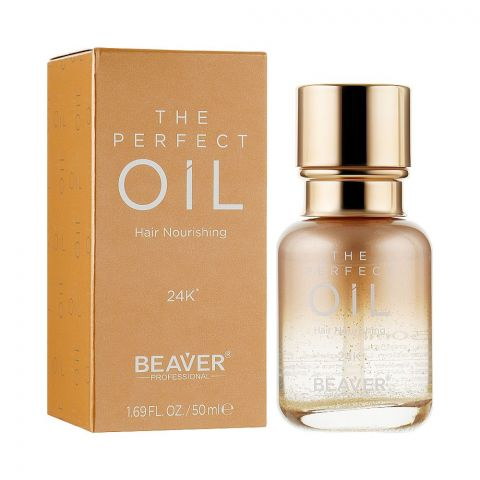 Beaver The Perfect 24K Hair Nourishing Oil, 50ml