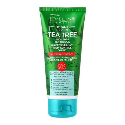 Eveline Botanic Expert Tea Tree Regenerating Antibacterial Hand Cream, 100ml