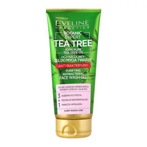 Eveline Botanic Expert Tea Tree Purifying Antibacterial Face Wash Gel, 175ml