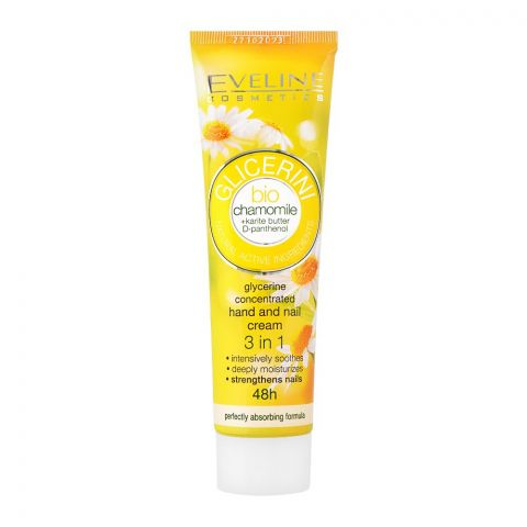 Eveline 3-In-1 Bio Chamomile Glycerine Concentrated Hand And Nail Cream, 100ml