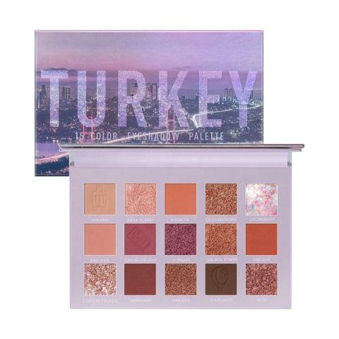 Focallure 15 Pan Eyeshadow 'Go Travel' Palette, 4 Hi Turkey