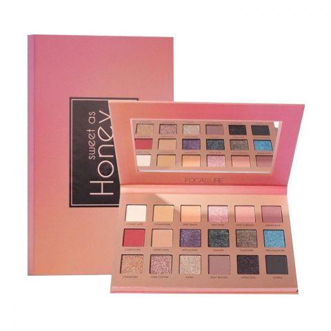 Focallure 18 Shade Eyeshadow Palette, Sweet As Honey