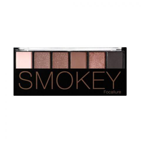 Focallure Smokey Eyeshadow Palette, 6 Shades, 03