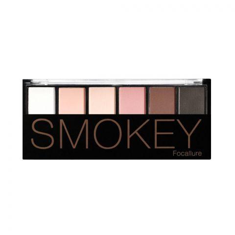 Focallure Smokey Eyeshadow Palette, 6 Shades, 05