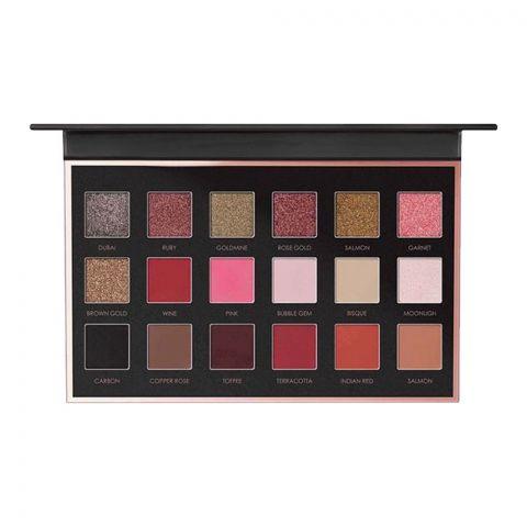 Focallure Your Favors Eighteen Eyeshadow Palette, 01 Bright Lux