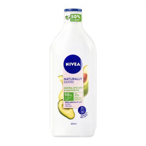 Nivea Naturally Good Avocado & Pampering Body Lotion, Dry Skin, 350ml