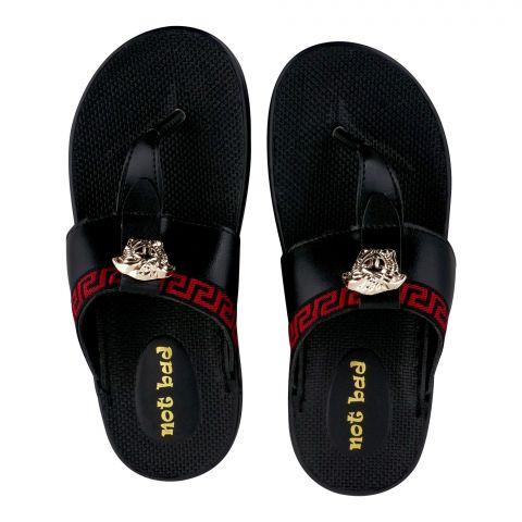 Kid's Slippers, For Girls, Black, 228-25