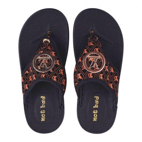 Kid's Slippers, For Girls, 228-17 Orange