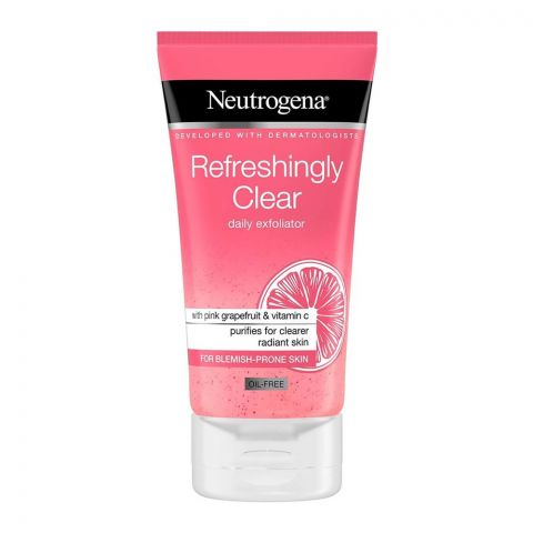 Neutrogena Refreshingly Clear Daily Exfoliator, Oil-Free, 150ml