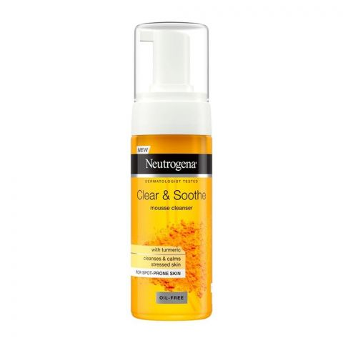 Neutrogena Clear & Soothe Mousse Cleanser, Oil-Free, 150ml