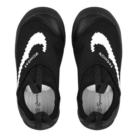 Kid's Shoes, For Boys, White/Black, C-2132