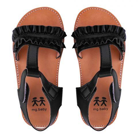 Kid's Sandals, For Girls, Black, V-621