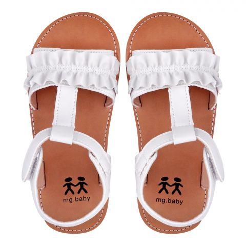 Kid's Sandals, For Girls, White, V-621