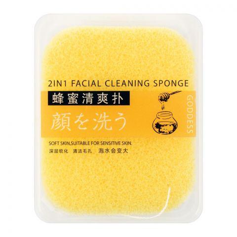 Lameila Goddess 2-In-1 Facial Cleansing Sponge, 1-Pack, B2162