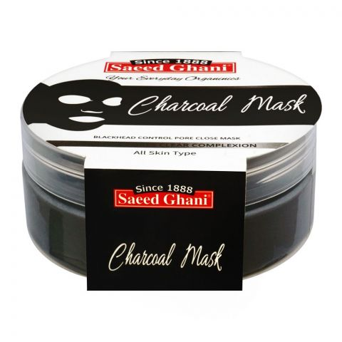 Saeed Ghani Charcoal Face Mask, All Skin Types, 180g