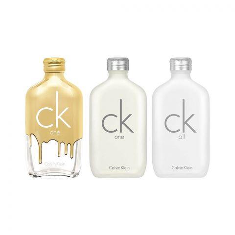 Calvin Klein Mini Perfume Set For Men, One EDT 10ml + CK Gold EDT 10ml + CK All EDT 10ml
