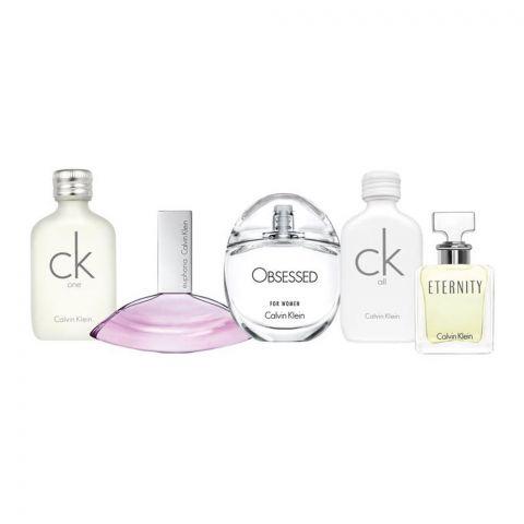 Calvin Klein Mini Perfume Set For Women, One 10ml + Euphoria 4ml + All 10ml + Obsessed 5ml + Eternity 5ml