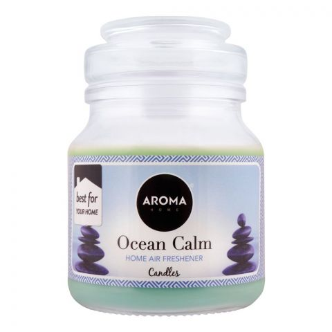 Aroma Home Ocean Calm Air Freshener Scented Candle, 130g