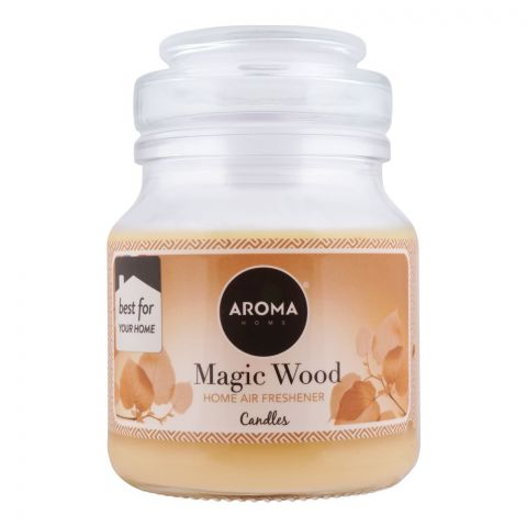 Aroma Home Magic Wood Air Freshener Scented Candle, 130g