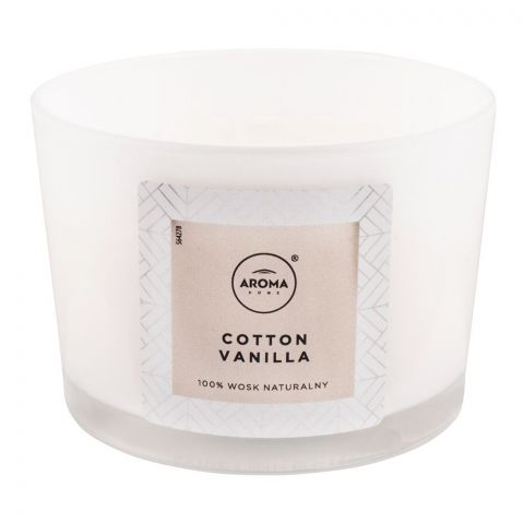 Aroma Home Natural Wax Cotton Vanilla Scented Candle, 115g