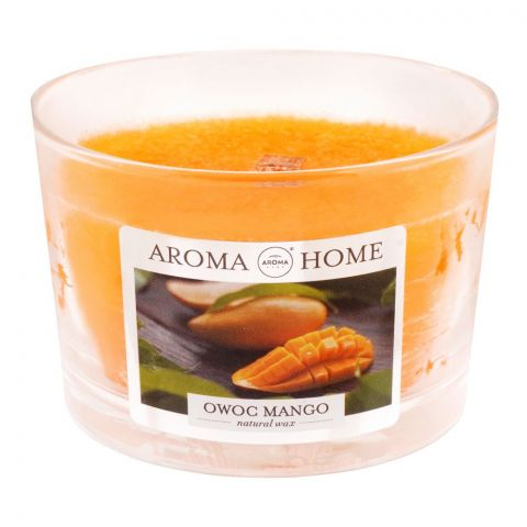 Aroma Home Natural Wax Mango Scented Candle, 115g