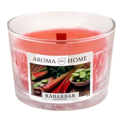 Aroma Home Natural Wax Rhubarb Scented Candle, 115g