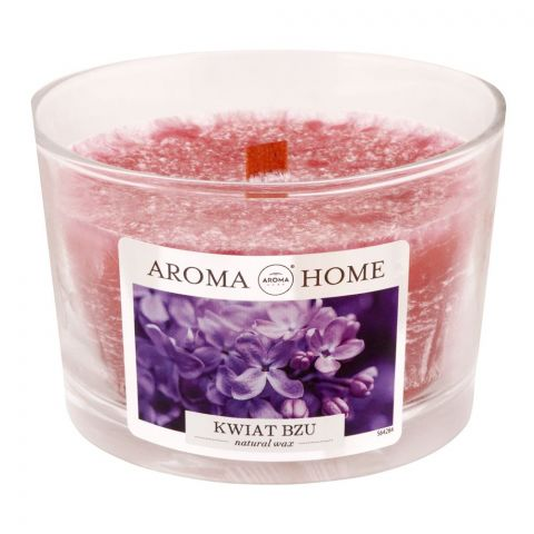 Aroma Home Natural Wax Lilac Flowers Scented Candle, 115g