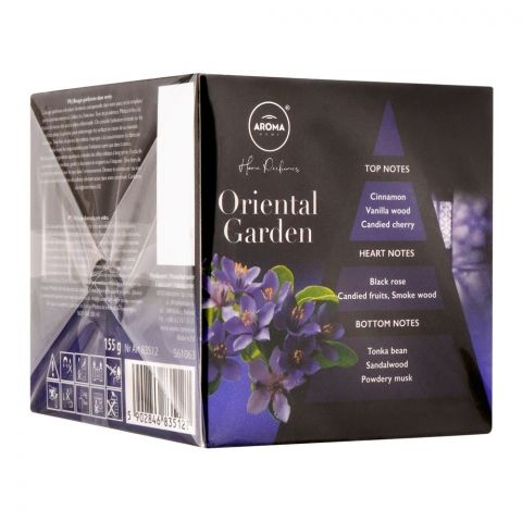 Aroma Home Oriental Garden Scented Candle, 155g