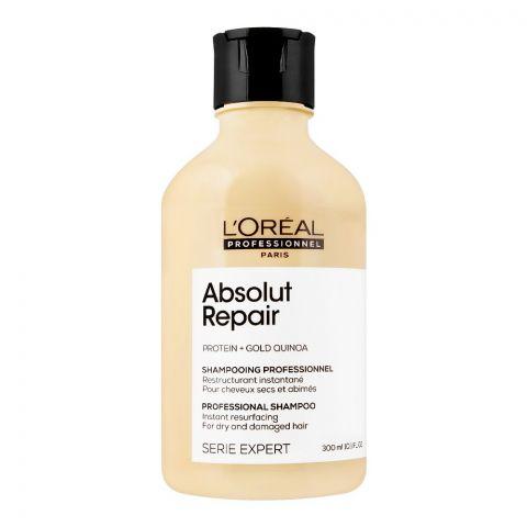 L'Oreal Serie Expert Protein + Gold Quinoa Absolut Repair Dry And Damage Hair Shampoo, 300ml