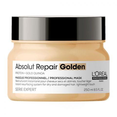 L'Oreal Serie Expert Protein + Gold Quinoa Absolut Repair Golden Dry & Damage Hair Masque, 250ml