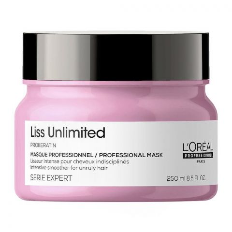 L'Oreal Serie Expert Pro-Keratin Liss Unlimited Professional Masque, 250ml