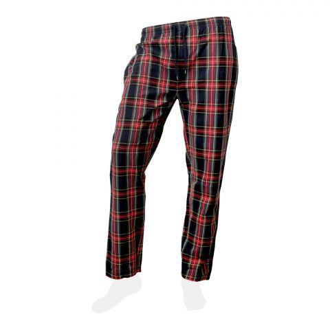 Basix Men 100% Cotton Yarn Dyed Checkered Pajama Black, MT-901