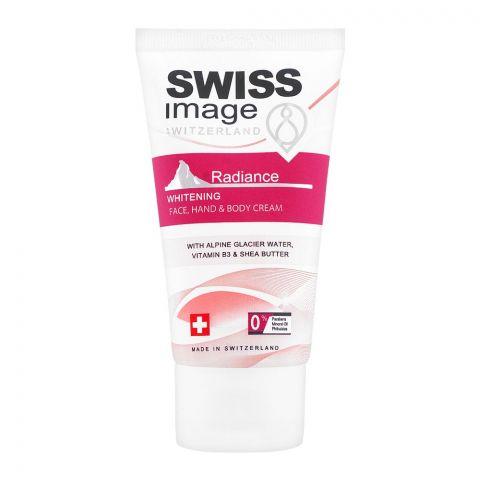 Swiss Image Radiance Whitening Face, Hand & Body Cream, Paraben Free, 75ml