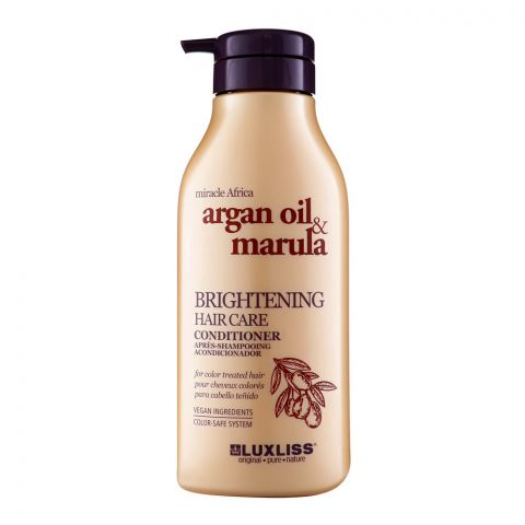 Beaver Luxliss Miracle Africa Argan Oil & Marula Brightening Hair Care Conditioner, Paraben & Sulfate Free, 500ml