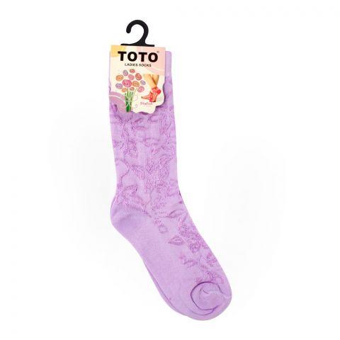 Toto Women's Socks, Purple