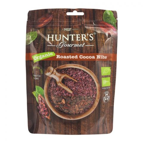Hunter's Gourmet Organic Roasted Cocoa Nibs, 300g