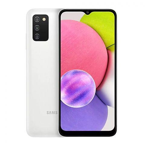 Samsung Galaxy A03S 4GB/64GB Smartphone, White, SM-A037F/DS